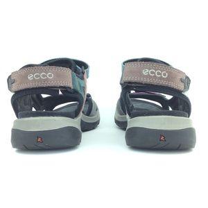 ECCO off road sandal multicolored Velcro straps
